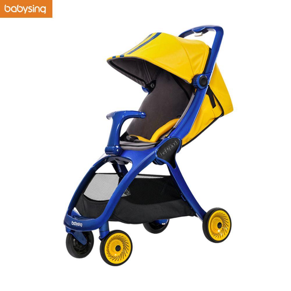 AUF VERKAUF Babysing K-GO Luxus Kinderwagen Alle Saison Reise Licht Regenschirm Auto Kinderwagen Faltbare Baby Wagen Kinderwagen Kinderwagen