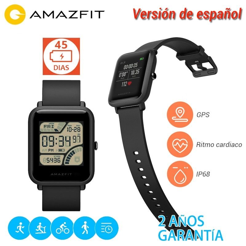 [Spanish Version] Xiaomi Huami Amazfit Bip Youth Edition Men Women Smart Watch Bluetooth 4.0 GPS Heart Rate 45 Days Standby IP68