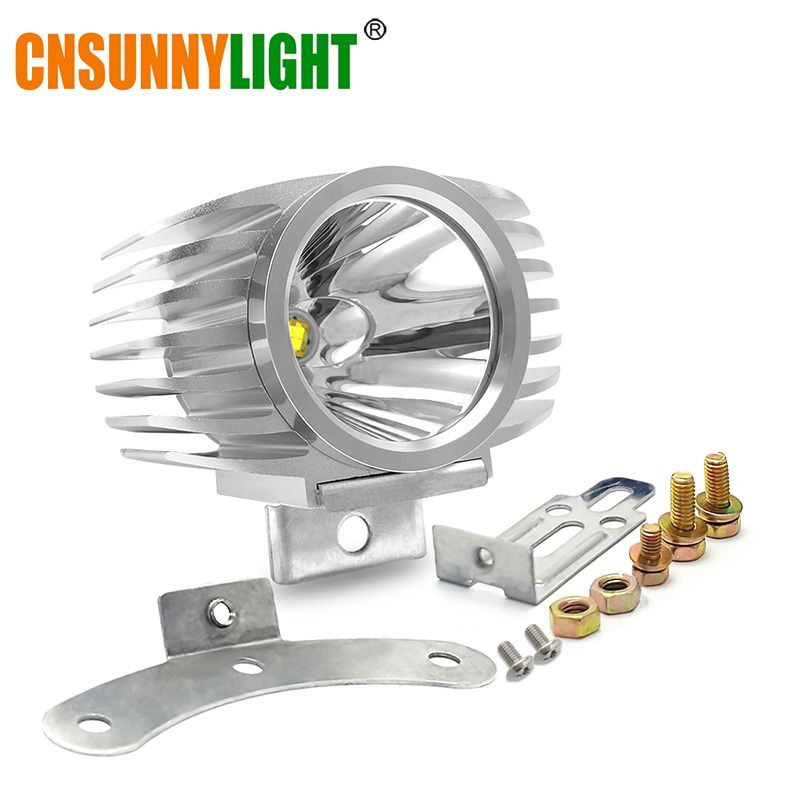 CNSUNNYLIGHT LED voiture phare externe 15 W 10 W blanc haut/bas moto DRL phare projecteur lecteur brouillard spots DC12V/24 V
