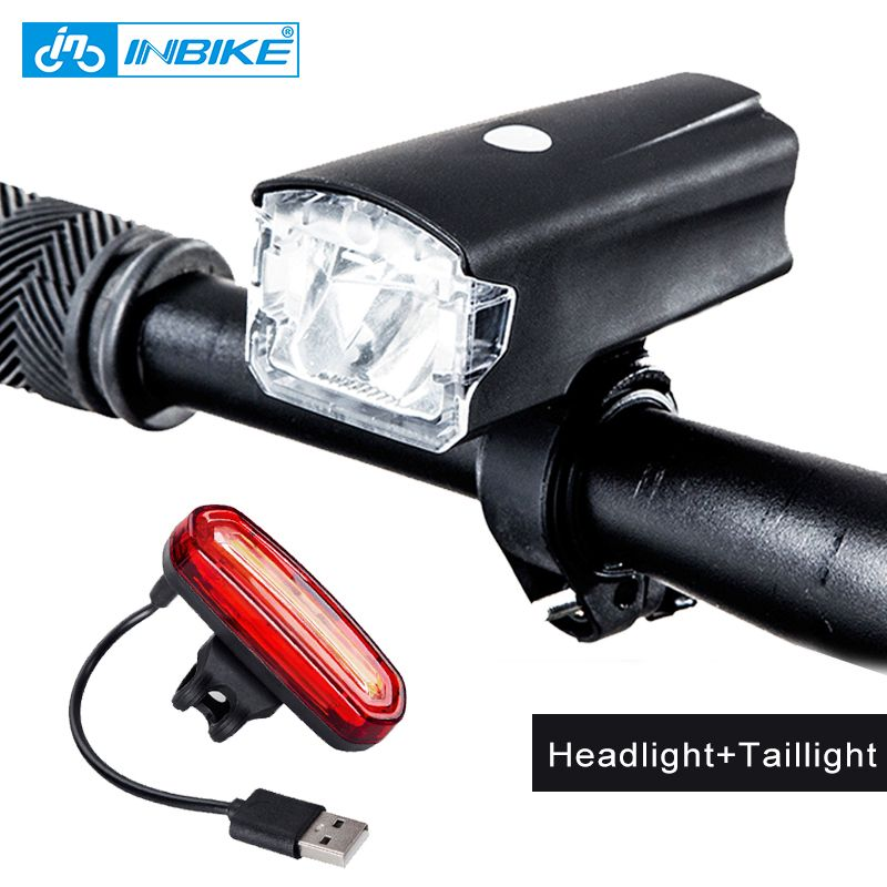 INBIKE Bicycle Light <font><b>Bike</b></font> Headlight USB Rechargeable Cycling Led Light MTB Bicycle Accessories Battery Flashlight bicicleta 516