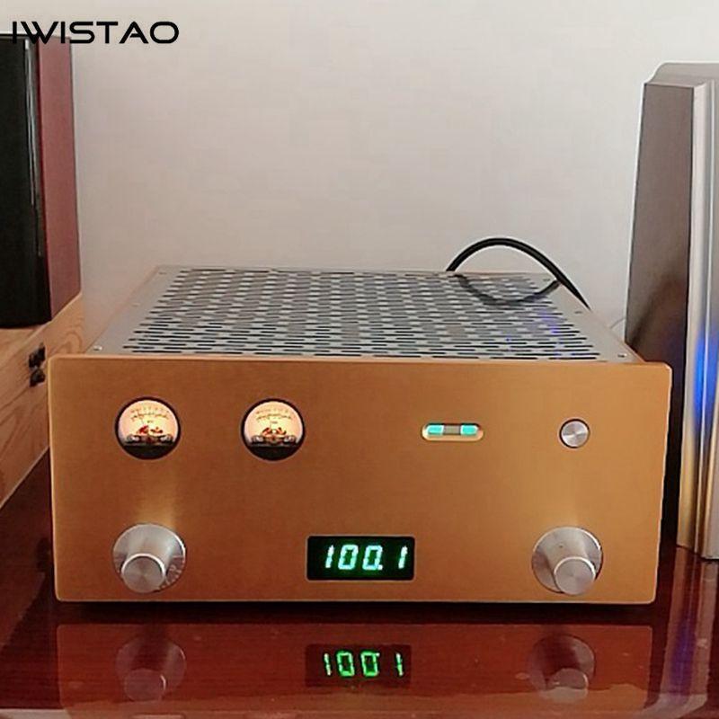 IWISTAO Rohr FM Stereo Radio Eingebaute Power Verstärker 6P1 2X3,5 W Ganze Aluminium Chassis Gold Hohe Empfindlichkeit HIFI audio