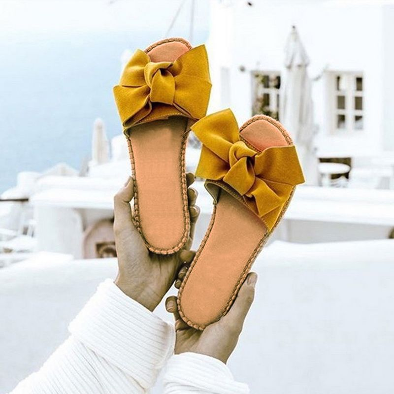 Slippers Women Torridity Bow Torridity Sandals Slipper Indoor Outdoor -flops Beach Shoes Female Fashion Shoes 2019