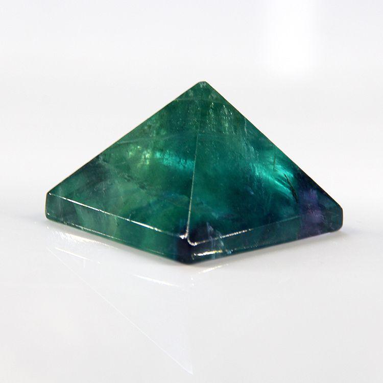2015 cristal naturel pyramide violet fluorite point chlorophane pyramide pendentif 32mm * 32mm livraison gratuite en gros