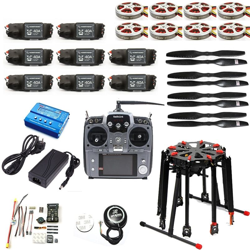 DIY RC Drone Pro 2.4G 10CH RC 8-Axle Tarot X8 Folding PIX PX4 M8N GPS ARF/PNF DIY Unassembly Kit Motor ESC Octocopter