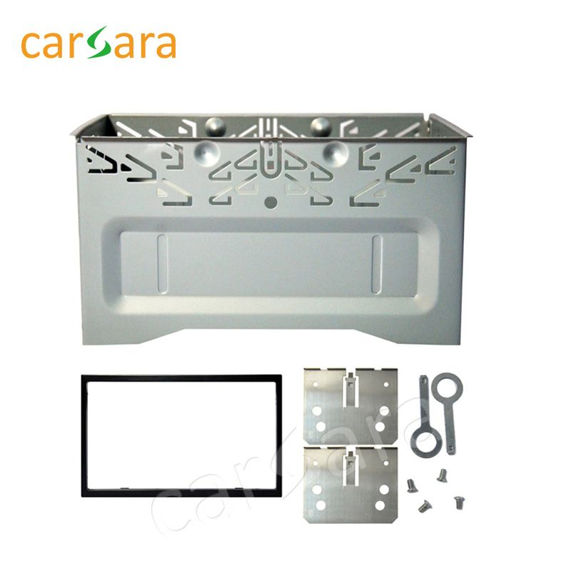 Car 6.2'' Universal Installation Fitting Frame Kit Set Mounting Fascias Cage for 178mmx100mm 6.2'' 2 Din Player