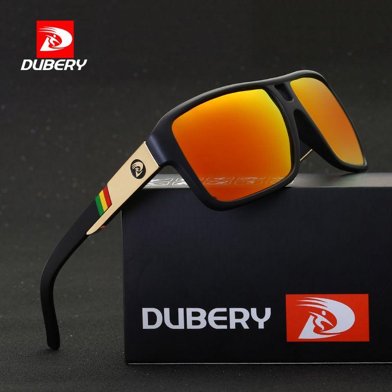 DUBERY 2017 Men's Polarized  Sunglasses Aviation Driving Sun Glasses Men Women  Sport  Fishing  Luxury Brand Designer Oculos