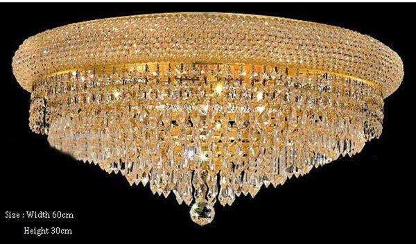Phube Lighting Empire Gold Crystal Ceiling Light  Modern Flush Mounted Light+Free shipping!