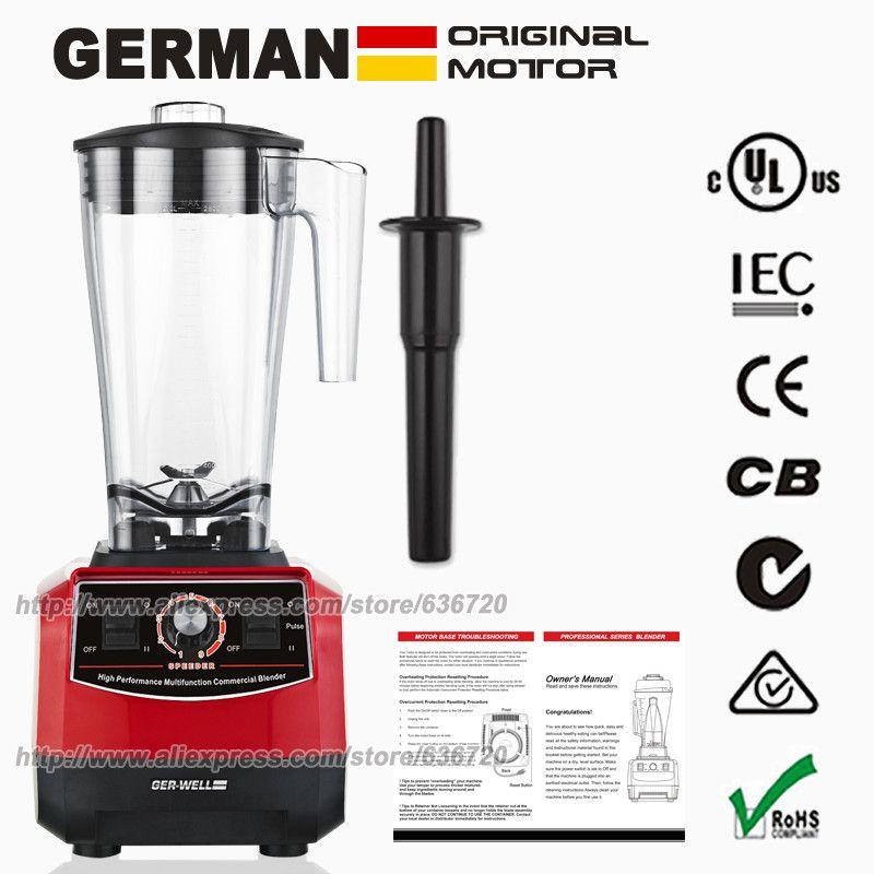BPA-Free G5500 9-Speed mixer system,Red 3HP 45000RPM 2200W 3L mixer juicer grinder snow cone machine