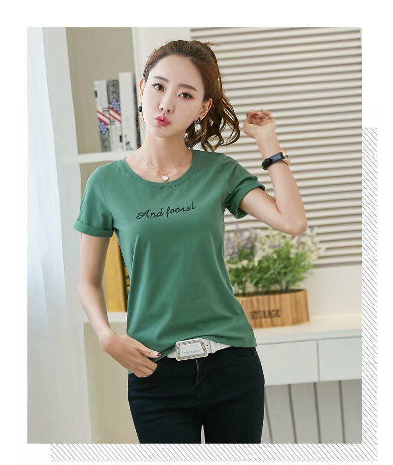 T Shirt Women /men Fashion T-Short Sleeve Kpop T- Shirt Men/Women Cotton L109