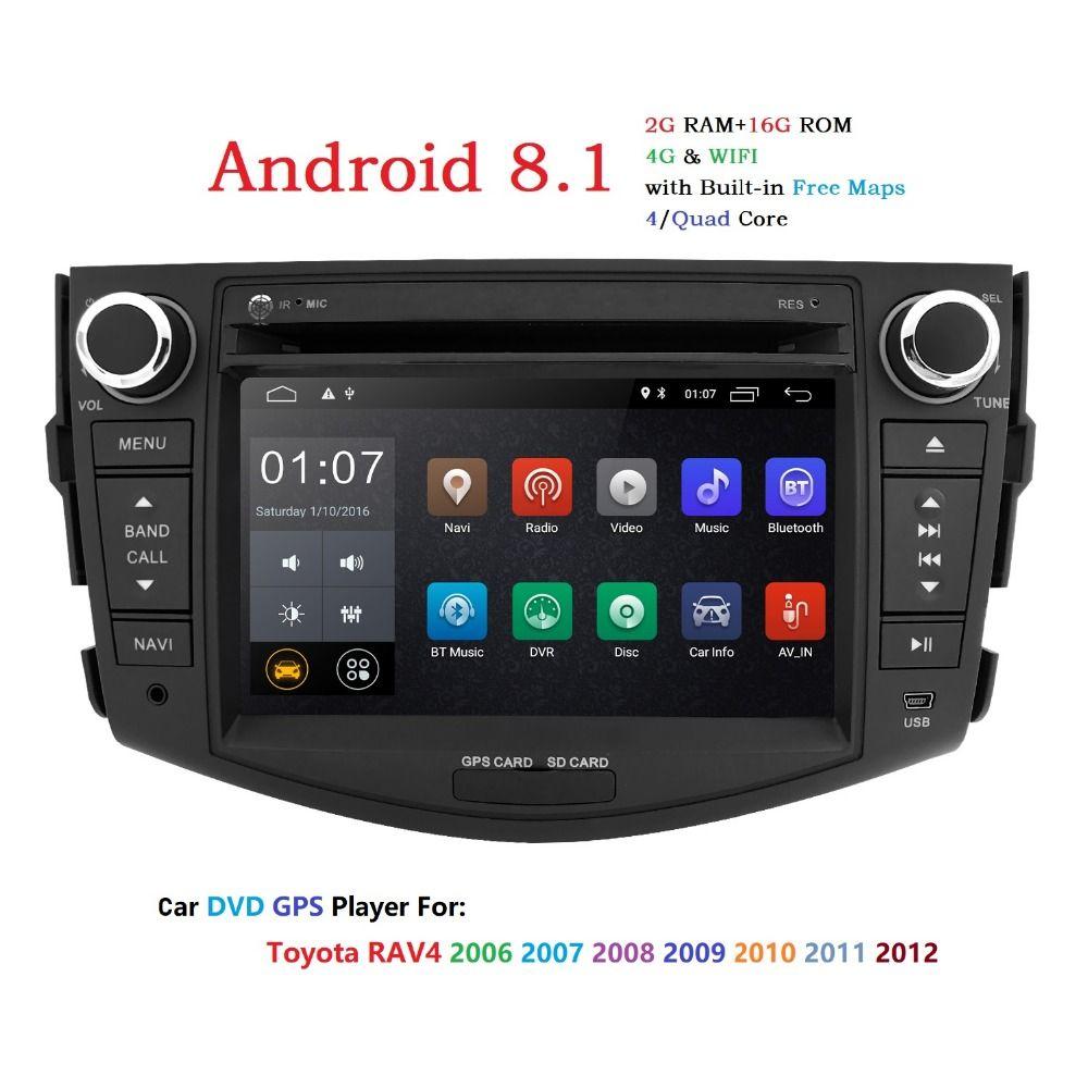 IPS Android 8.1 2 din auto dvd player für Toyota RAV4 Rav 4 2007 2008 2009 2010 2011 Radio band recorder gps wifi rds tupfen tpms 4G