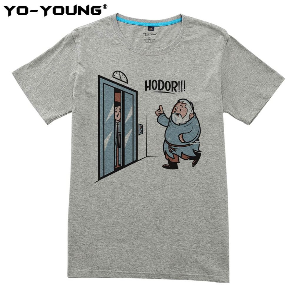 Game Of Thrones Hodor Jon Snow Hommes T Shirts Drôle Conception T-shirts Pour Hommes Numérique Imprimé 100% 180g Peigné coton Personnalisé