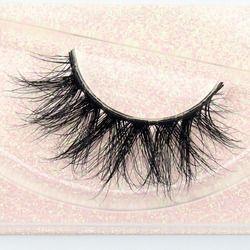 Visofree Mink Eyelashes 100% Cruelty free Handmade 3D Mink Lashes Full Strip Lashes Soft False Eyelashes Makeup Wispy Lashes E11