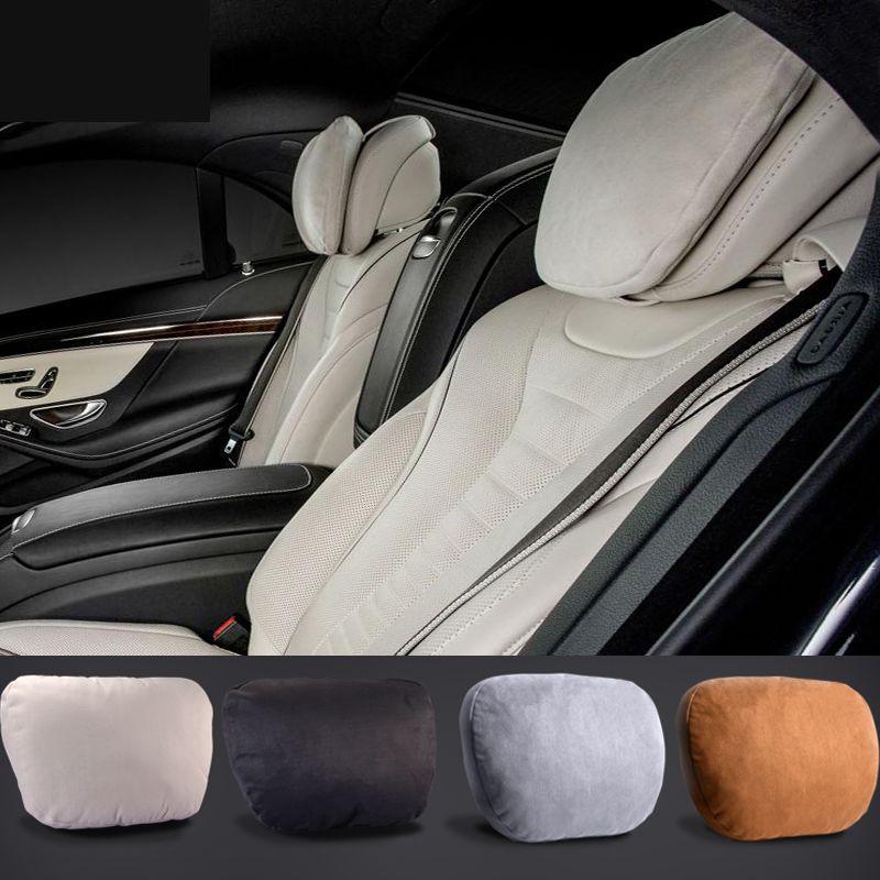 Maybach Conception S Classe Ultra Doux Natrual Cou De Voiture Siège Coussin marque Appui-Tête Couvre Pour Mercedes-Benz C E CLS GLA GLE GLK GLC