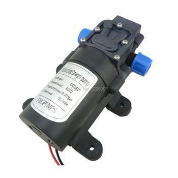 24 v 60 W 5L/min DC membrane haute pression mini pompe à eau retour type de vanne