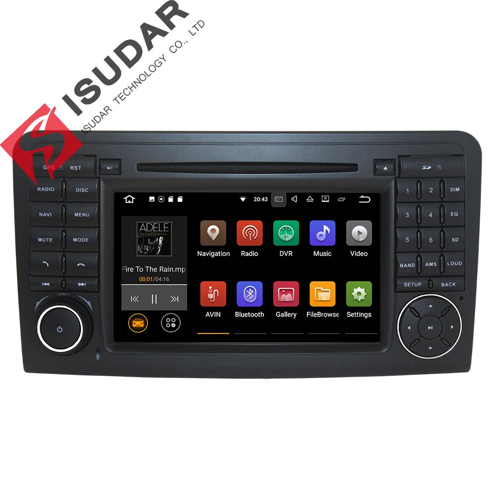 Wholesales! 2 Din 7 Inch Android 7.1.1 Car DVD Player For Mercedes/Benz/ML/GL CLASS W164 ML350 ML500 GL320 Canbus Wifi GPS Radio
