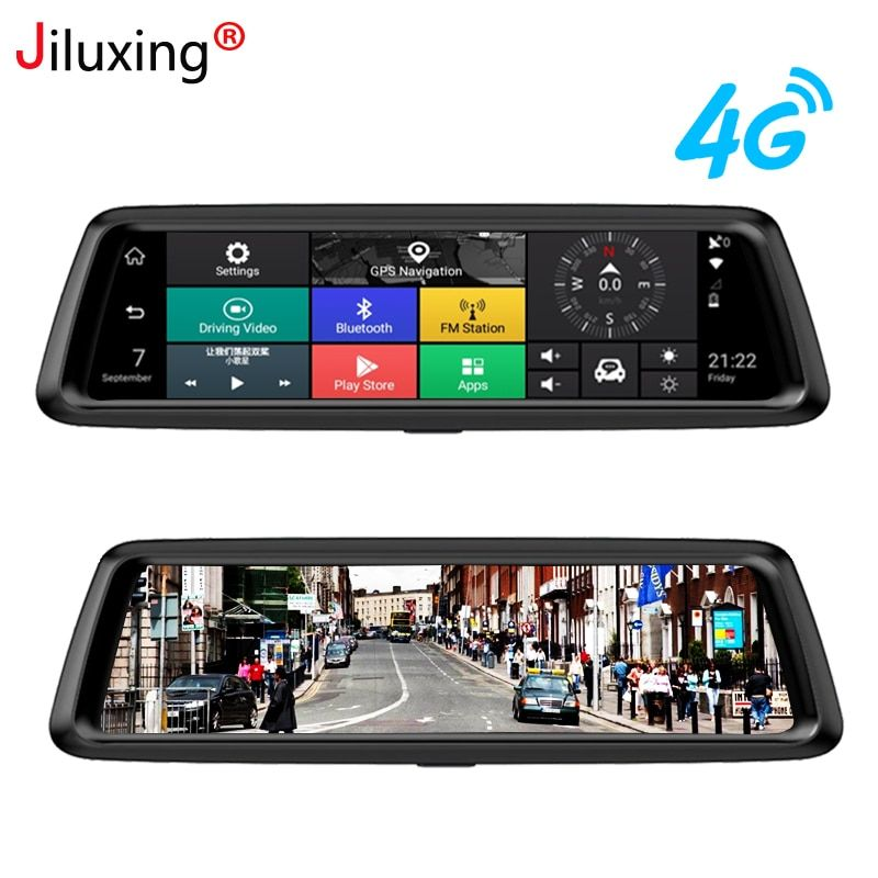 Jiluxing D10S HD 1080 P Auto DVR 4G GPS navigation Android auto kameras spiegel WIFI FM Bluetooth dash cam video recorder ADAS