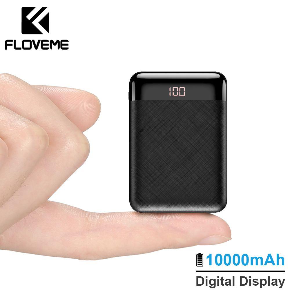 FLOVEME batterie externe 10000 mAh mi ni mi Powerbank batterie externe pour iPhone Xiao mi Powerbank 2USB batterie externe Pack chargeur Portable