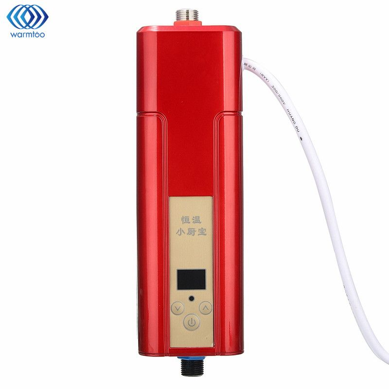 5500W Mini Electric Hot Water Heater Wall Mounted Instant Heating Constant Temperature Shower Room Kitchen