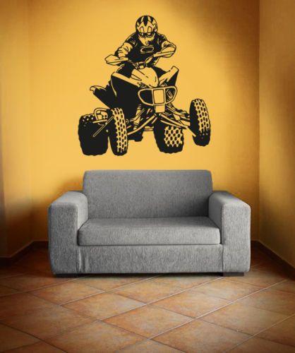 Vinyl Wall Decal Sticker Bedroom quad bikes cars sport championship man mural for living room Home Decor r1530