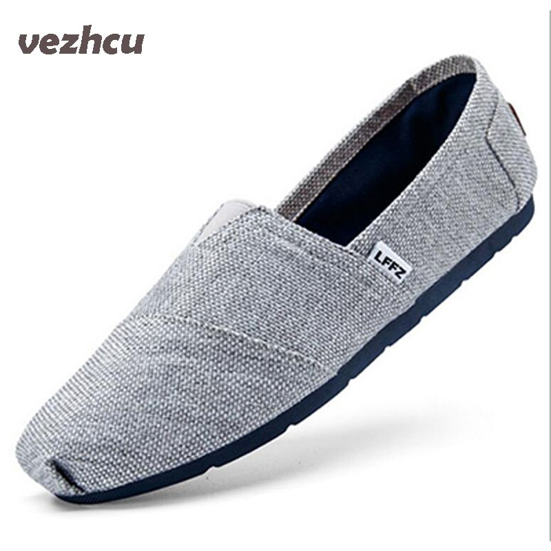 Summer Fashion Men Canvas Shoes espadrilles Men Casual Shoes Slip on Breathable Men Flats Shoe Zapatos <font><b>Hombre</b></font> cd28
