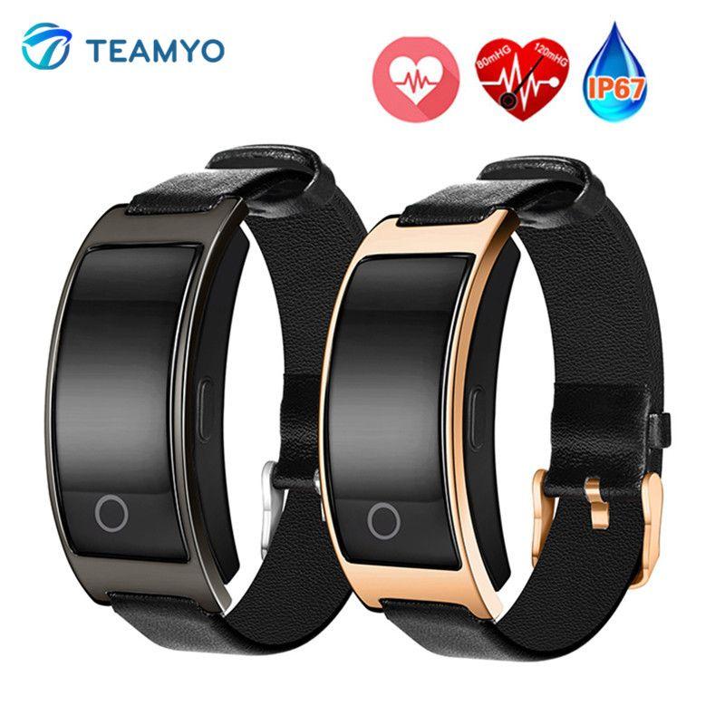 Teamyo ck11s Smart Band Приборы для измерения артериального давления часы крови кислородом сердечной Мониторы умный Браслет Фитнес часы IP67 смарт-бра...