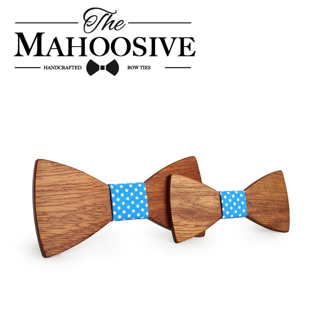 Mahoosive Wooden bow tie corbata boda corbatas ties for men kids necktie bowtie gravata casamento