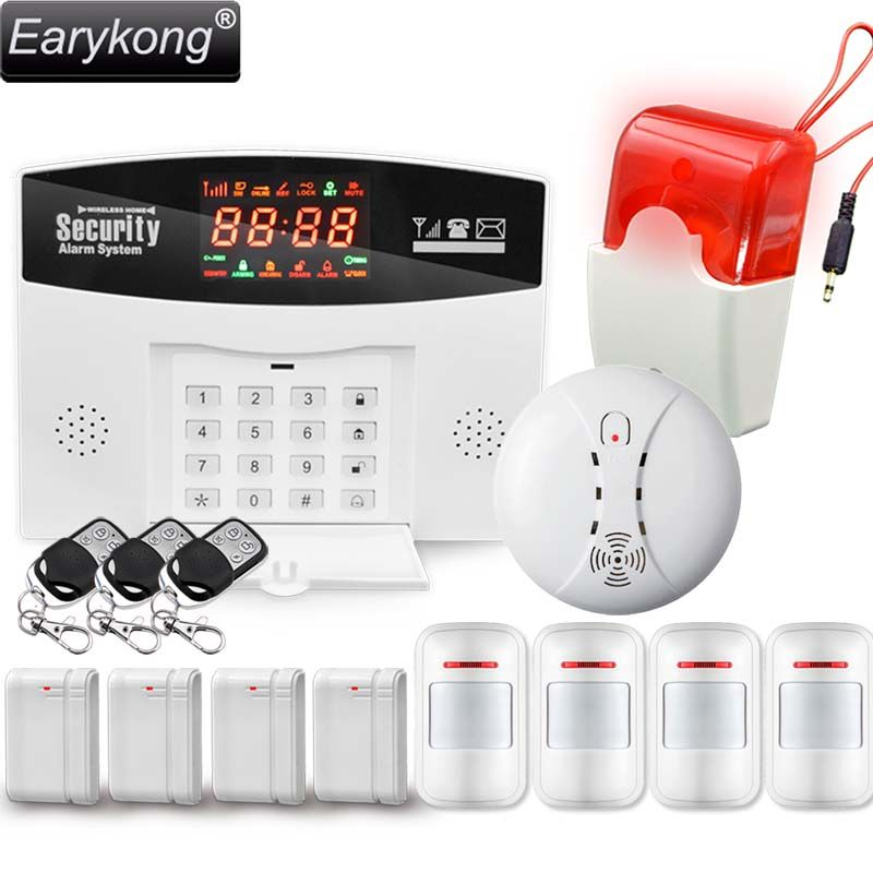 Hot Selling English/Russian/Spanish Wireless GSM Alarm System <font><b>433MHz</b></font> Home Burglar Security Alarm System M2-2, Free Shipping