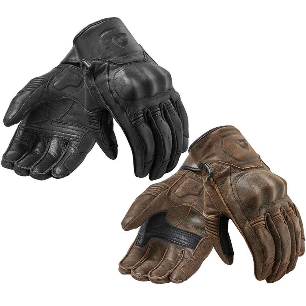new 2018 Revit FGS120 PALMER Motorcycle Gloves black Racing Gloves Genuine Leather Motorbike Gloves