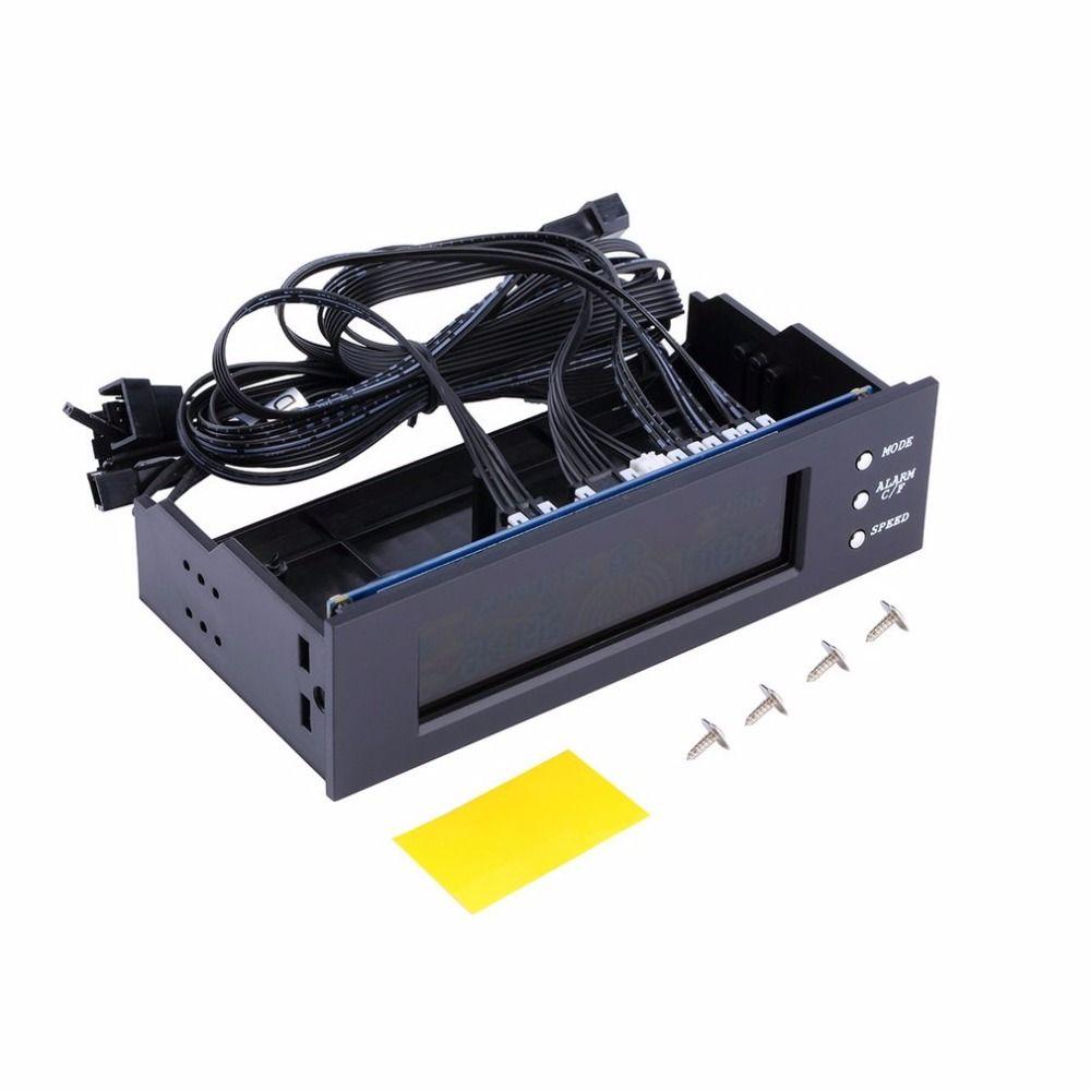 LCD Panel Cpu-lüftersteuerung Temperaturanzeige 5,25 zoll PC Fan Speed Durable Controller Luft-colded Lüftersteuerung