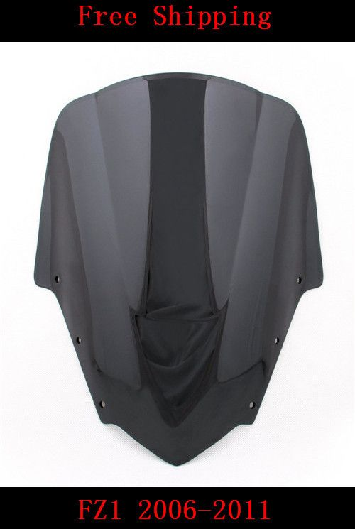 For Yamaha FZ1 2006-2011 motorcycle Double bubble windshield windscreen black