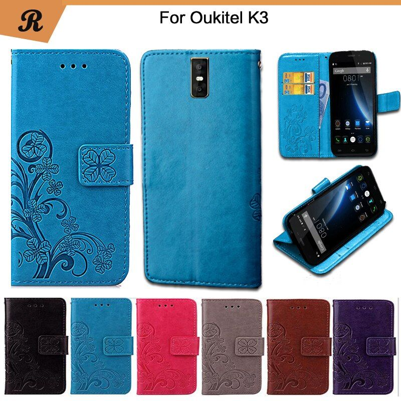 Newest For Oukitel K3 Factory Price Luxury Cool Printed Flower 100% Special high quality PU Leather Flip case with Strap