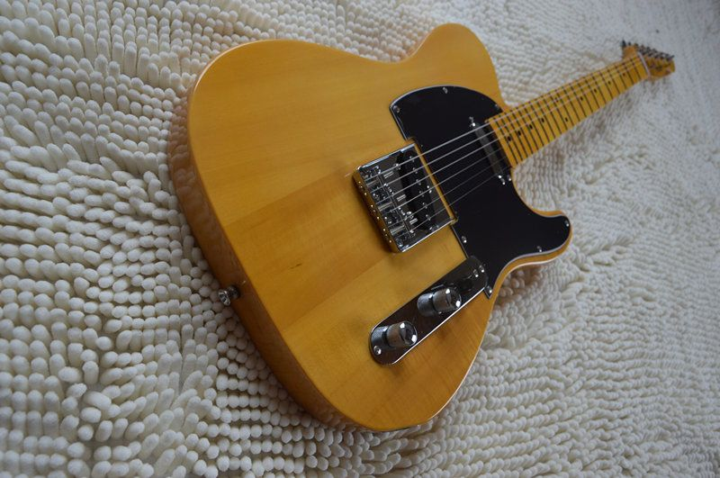 Free shipping Telec electric guitar, natural TL guitar, maple body and main bearing guitars, OEM guitarra eletrica telecaster