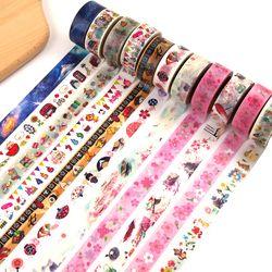 Cute Kawaii Bunga Hewan Jepang Kertas Washi Tape Tape Dekoratif Perekat Dailyland Diy Scrapbooking Masking Tape Alat Tulis