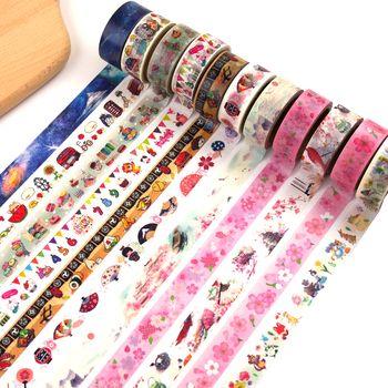 Cute Kawaii Flowers Animal Japanese Paper Washi Tape Adhesive Decorative Tape Dailyland Diy Scrapbooking Masking Tape Stationery