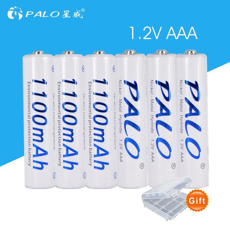 6 pièces 1100 mAh 1.2 v AAA batterie rechargeable pour jouet lumineux à LED batterie de placement pour caméra MP3 mp4 microphone