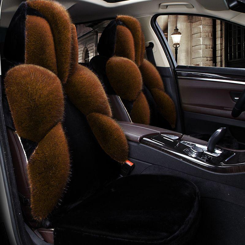 Warme menschen verursachten Fuchspelz Allgemeine Auto Sitzkissen Auto Styling auto Sitzbezug Für BMW Audi Toyota Honda Ford Alle limousine