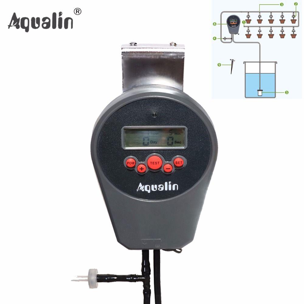 Автоматическая ЖК-дисплей Дисплей капельного полива комплект цветник вода таймер полива комплект со встроенным Высокое качество мембраны ...
