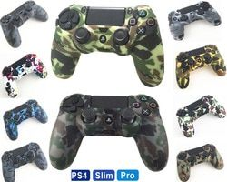PS4 Accessories Silicone Gel Guards sleeve Skin Grips Cover Case Caps For Playstation 4 PS4 Pro Slim Durable Camouflage Camo