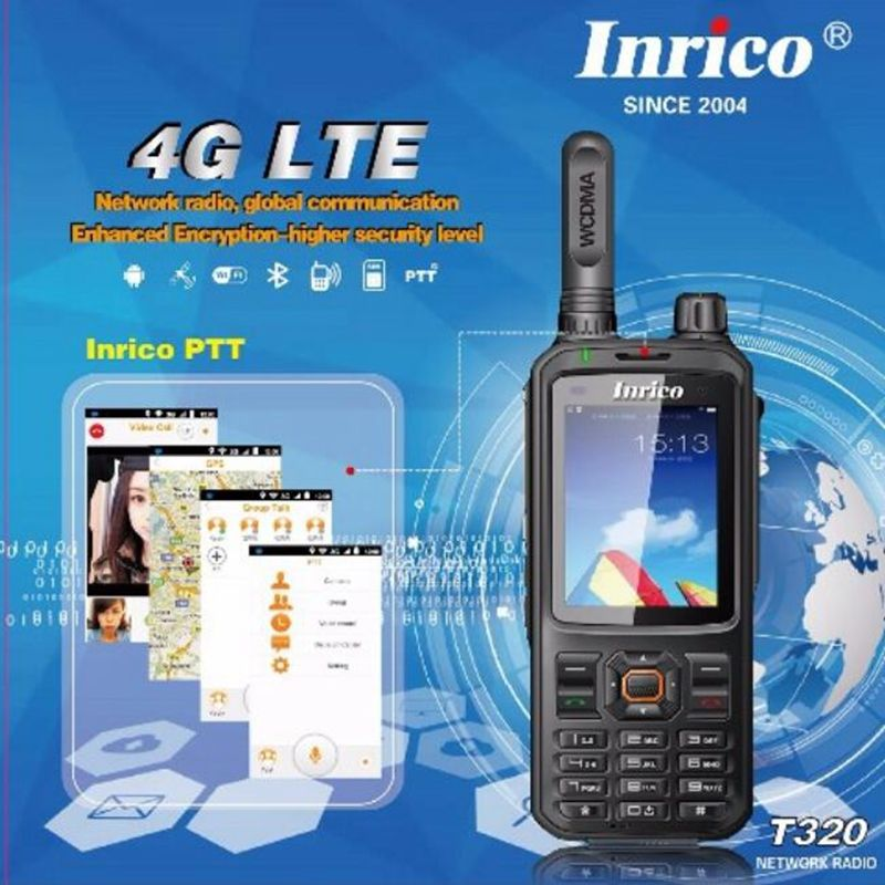 T320 4G LTE network intercom transceiver mobile phone radio walkie talkie HSDPA WCDMA two way radio 16CH