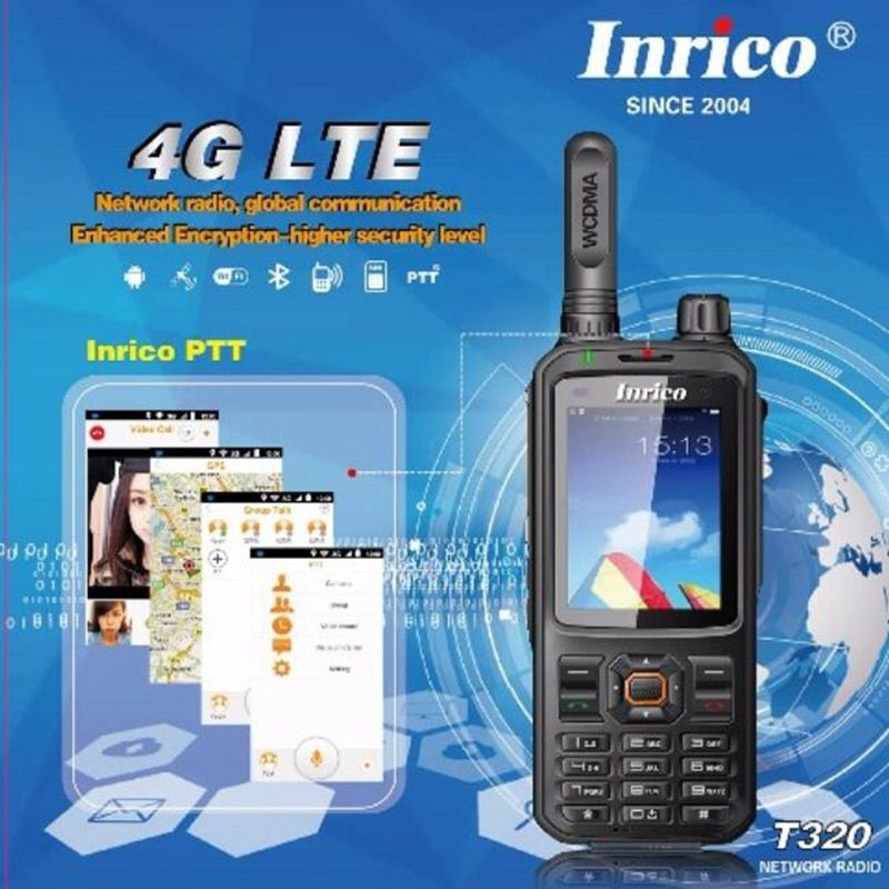 T320 4G LTE network intercom transceiver mobile phone radio walkie talkie HSDPA WCDMA two way radio 16CH