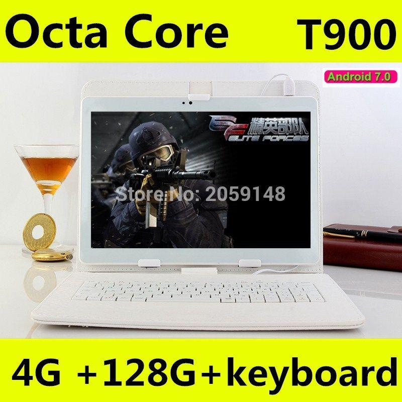 10.1 inch tablet pc Android 7.0 octa core RAM 4GB ROM 128GB Dual SIM Bluetooth GPS 1920X1200 IPS Smart tablets pcs T900 101''