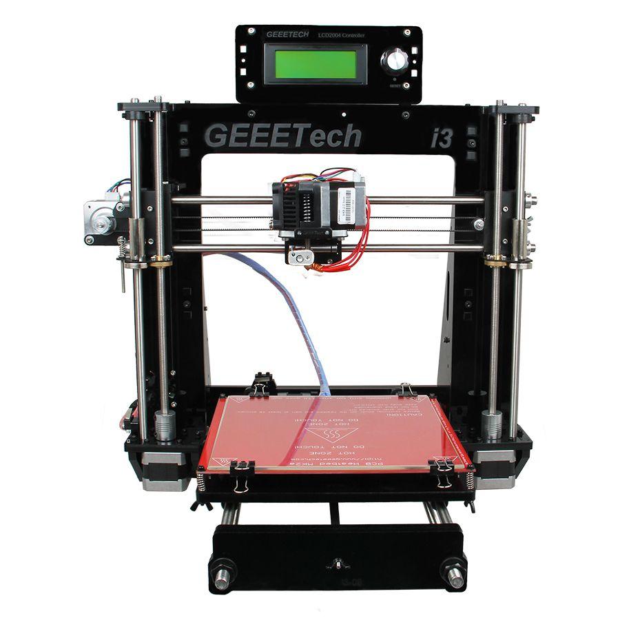 Geeetech Prusa i3 Pro B Open Source 3D Printer Acrylic Frame High Precision Impressora DIY Kit LCD 2017 Hot Sell Machine