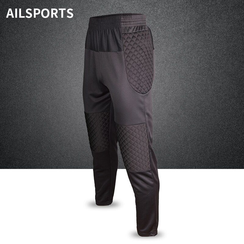 Men Professional Soccer Training Pant Goalkeeper Pants Shorts Sponge Football Goal Keeper Rugby Trousers Goalie Sport Sweatpants