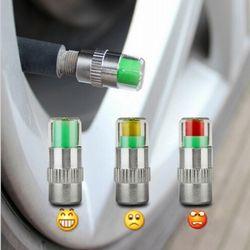 4 Buah/Banyak Mobil 2.2 2.4 Bar 32PSI Pengukur Tekanan Ban Tutup Katup Sensor Mata Air Alert Pemantauan Tekanan Ban Alat mobil Styling