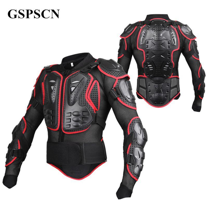 GSPSCN Motorcycle Full Body Armor Motocross Jacket spine chest protection gear Motocross Motos Protector Moto Motorcycle Jacket