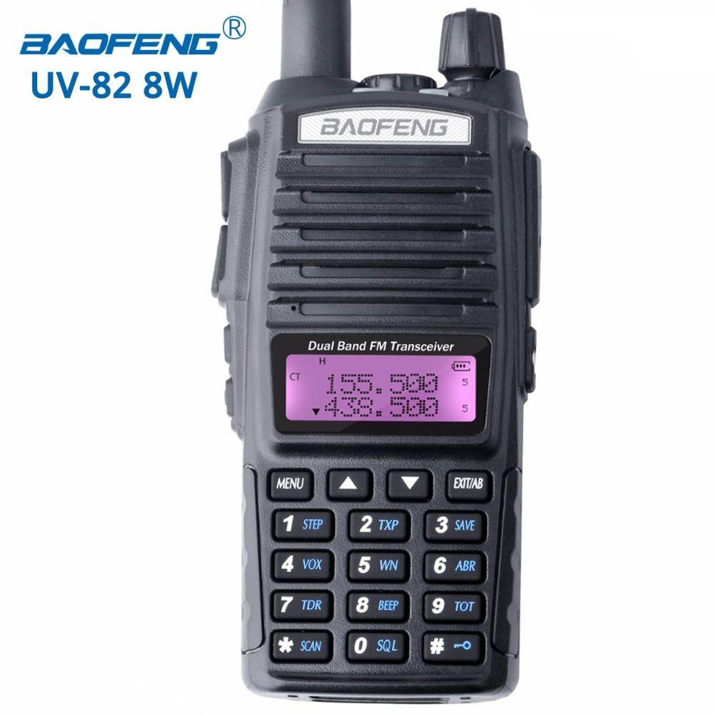 Baofeng UV-82 8W walkie talkie portable radio dual band transceiver High Mid Low Power UV82 Ham Radio Station amateur Portable