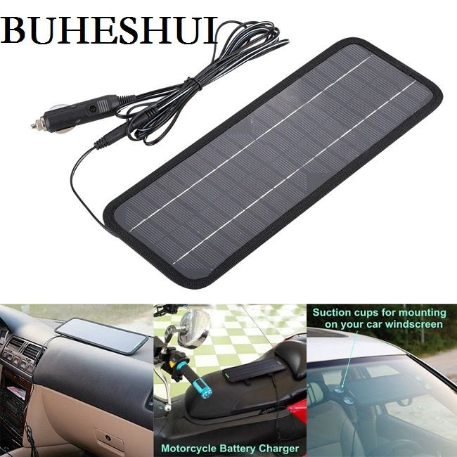 BUHESHUI 18V 4.5W Portable Solar Panel Charger For 12V Car Boat Motor Battery Charger Solar Panel Charger Free Shipping