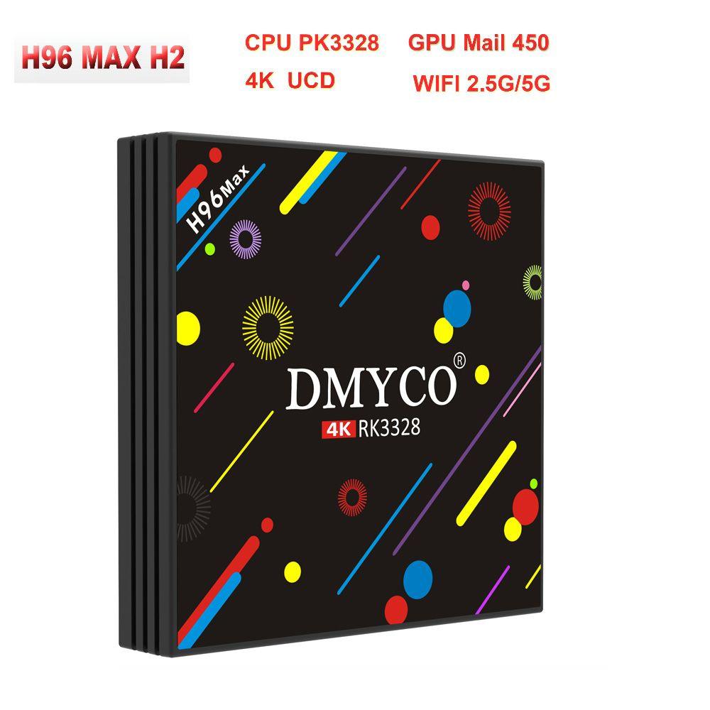 H96 MAX H2 32GB RAM 4GB USB3.0 Smart Android 7.1 TV BOX RK3328 Quad Core 64bit CortexA53 WiFi 2.4G/5G BT4.0 tv box