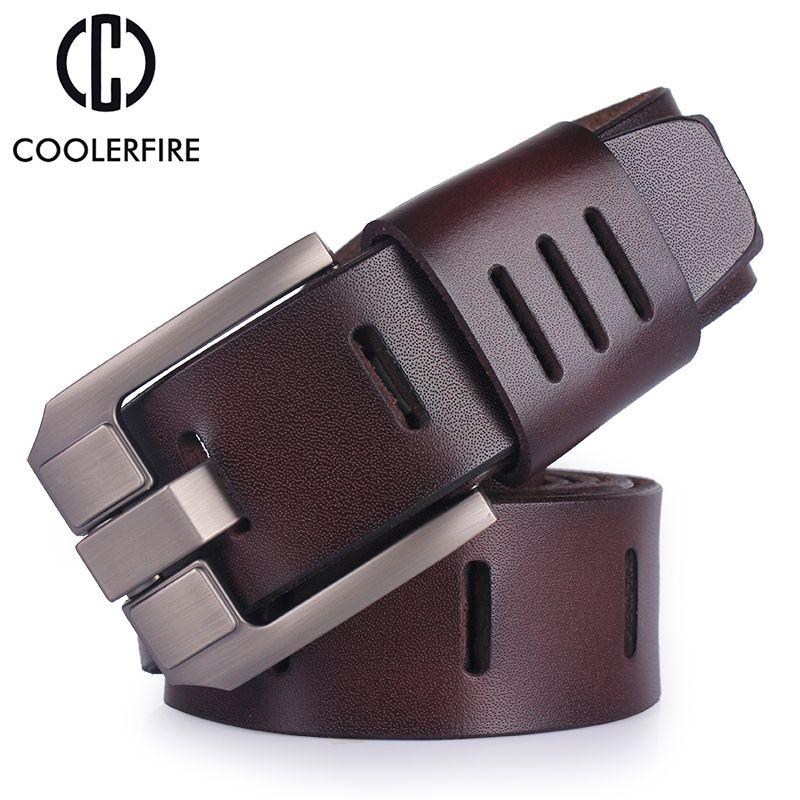 Cuir de vachette véritable ceintures en cuir pour hommes marque mâle boucle ardillon jeans cowboy hommes ceinture de luxe Designer de haute qualité en cuir ceinture hommes