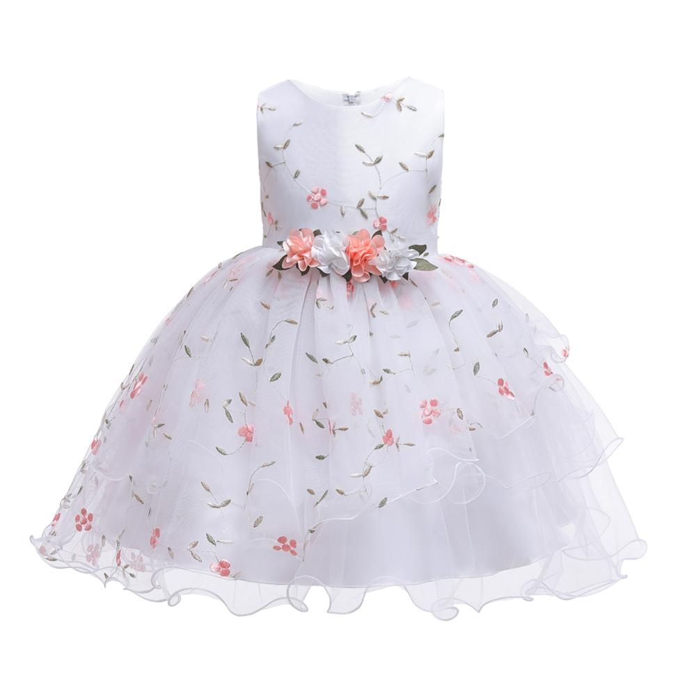 2019 New Christmas Princess Girls Party Dresses for party baby fashion Pink Tutu dress Girls Wedding Dress kids dress